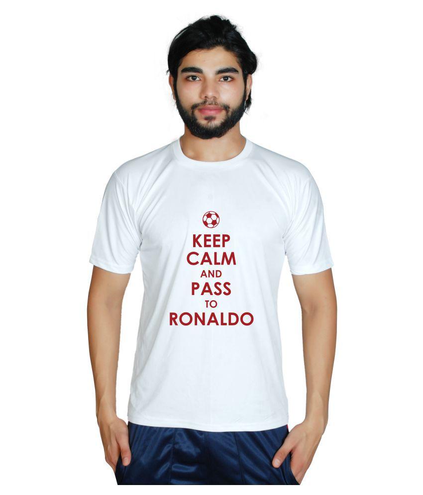 Prokyde White Polyester T-Shirt
