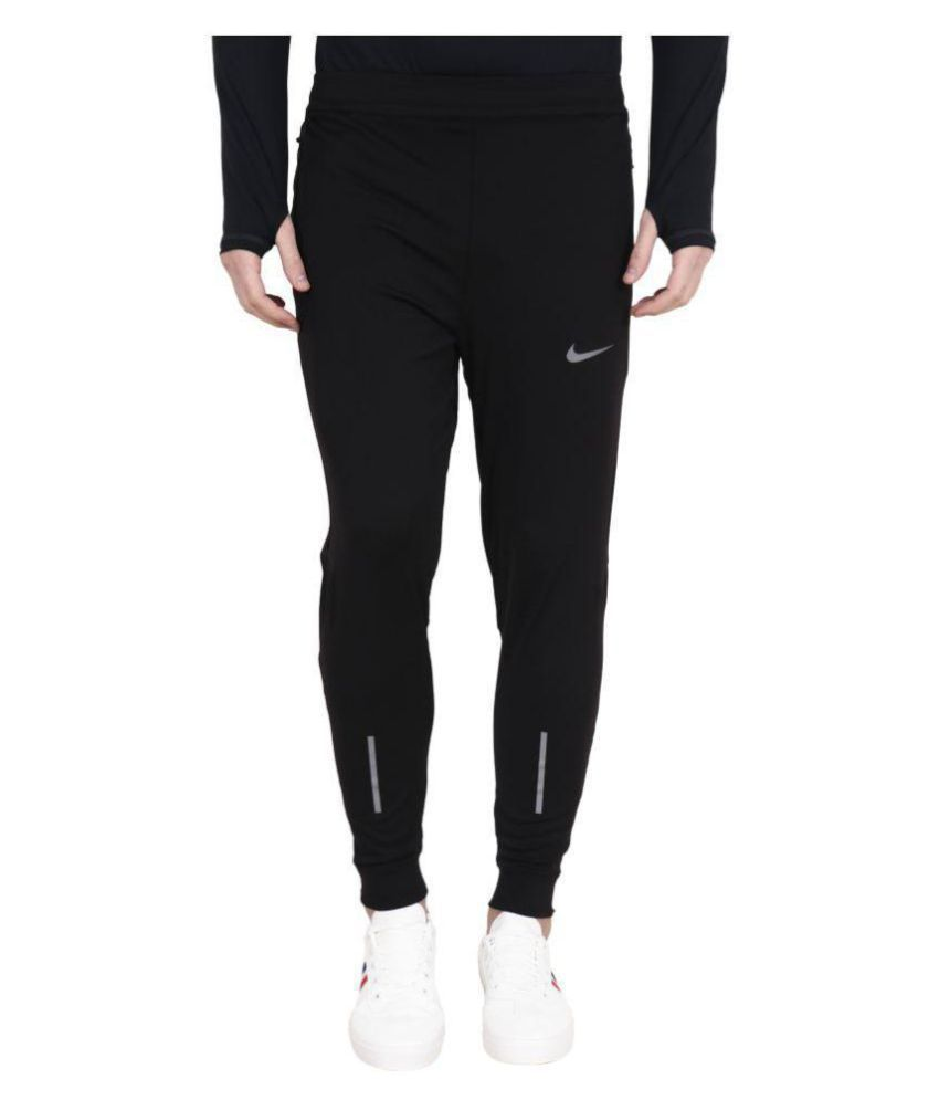 d93317542bcb Black Polyester Lycra Jogger Trackpant - Buy Black Polyester Lycra Jogger Trackpant  Online at Low Price in India - Snapdeal