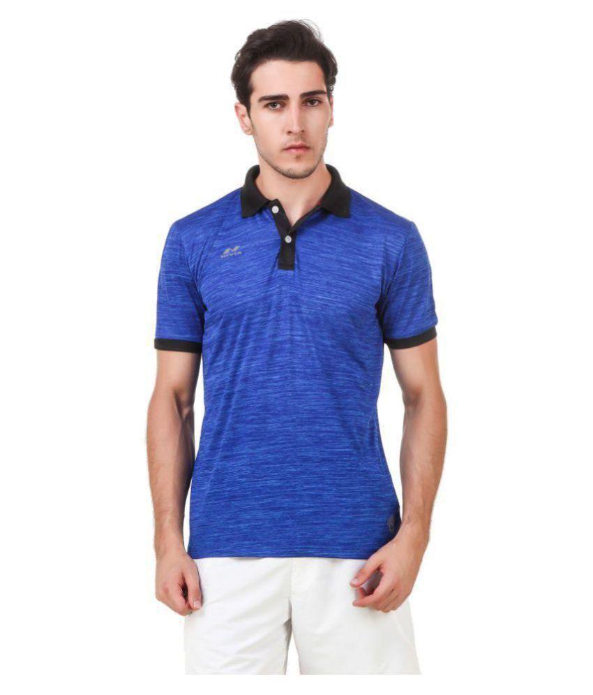 Nivia Blue Polyester T-Shirt-2245L-2