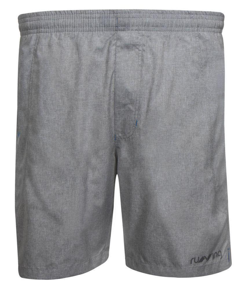 Nivia Grey Polyester Running Shorts-2312S01