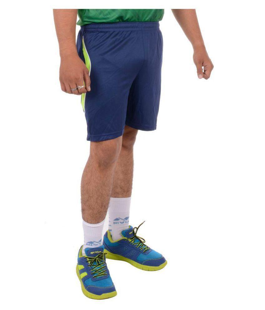 Nivia Navy Polyester Fitness Shorts-2307L2
