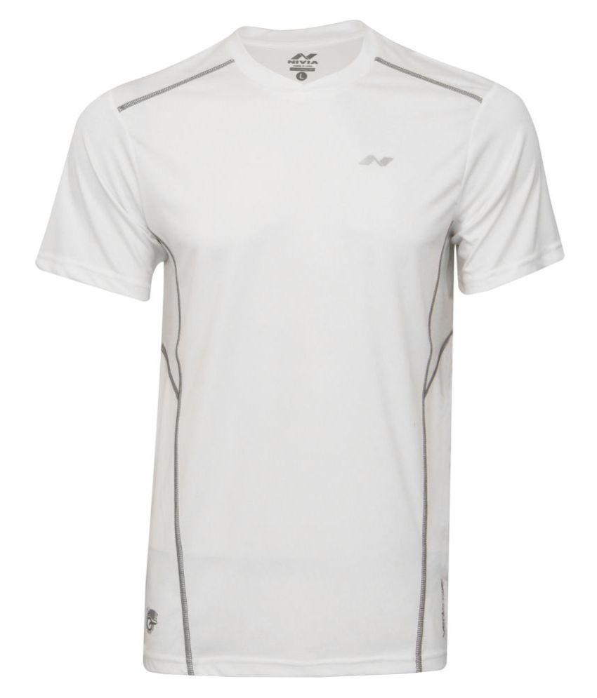 Nivia Oxy-1 Fitness Tee White-2213-s1
