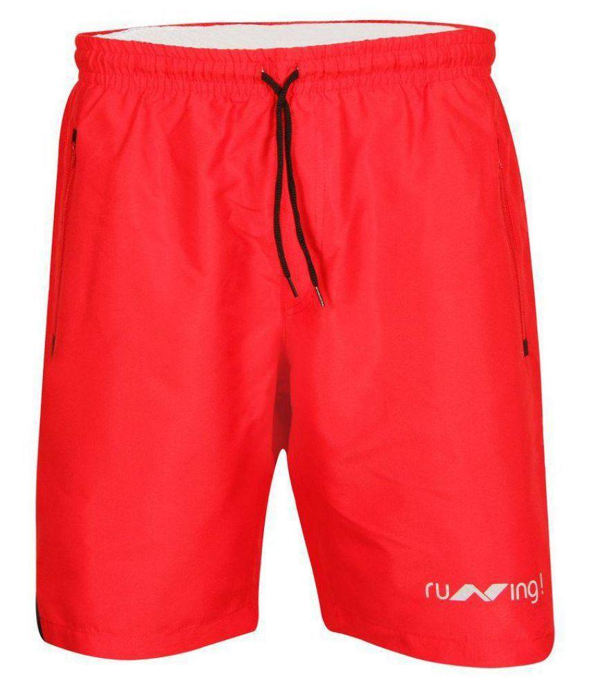 Nivia Red Running Shorts-n2037l8