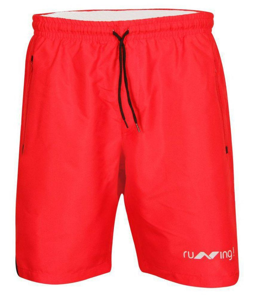 Nivia Red Running Shorts-n2037s8