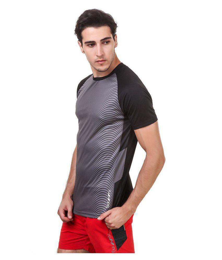 Nivia Black Polyester T-Shirt-1866XXL-3