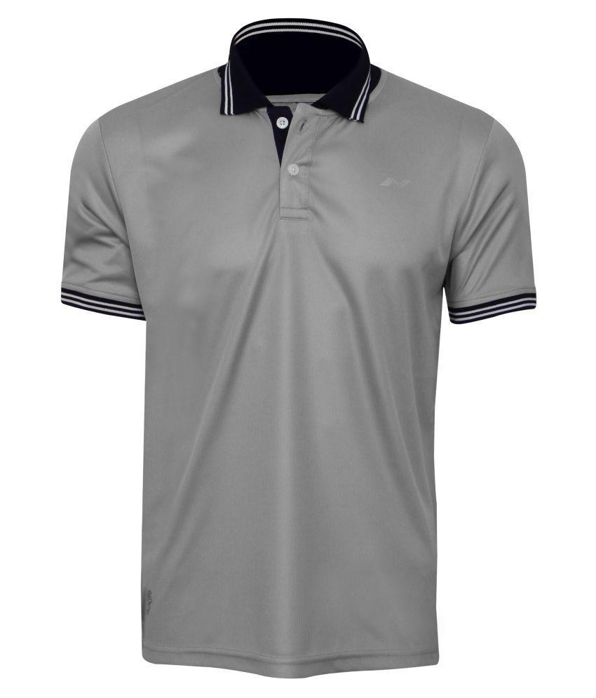 Nivia Quench -1 Polo Tee Grey-2290-xxl3