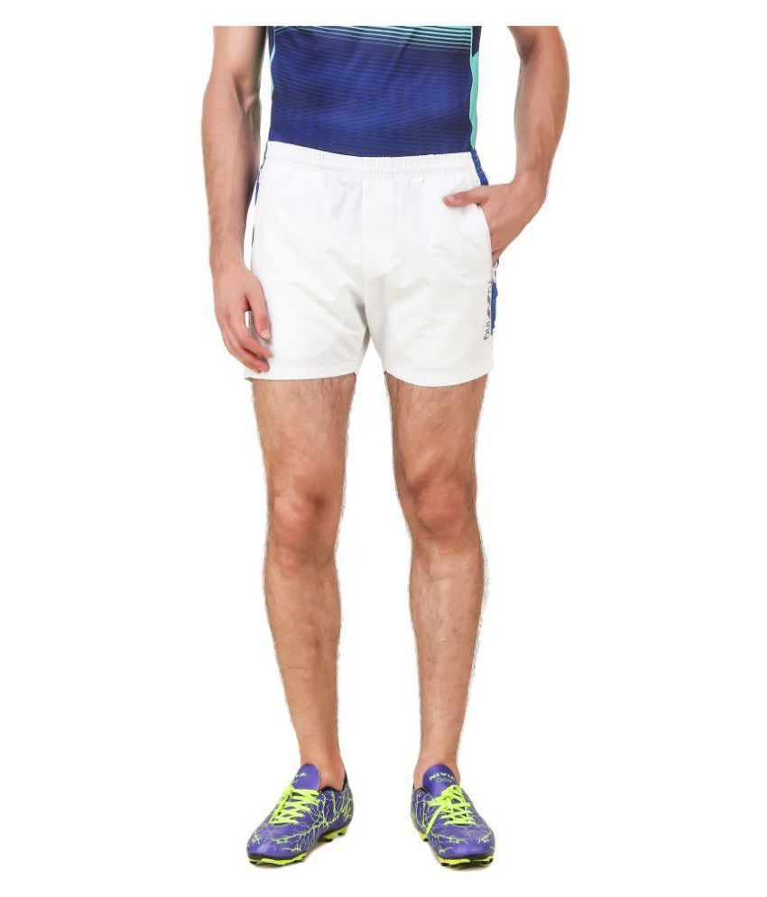 Nivia White Polyester Fitness Shorts-2039M-3
