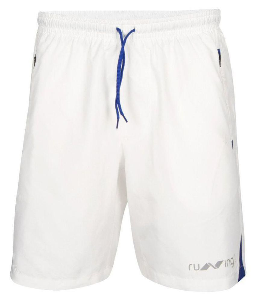 Nivia White Running Shorts-n2037xl6