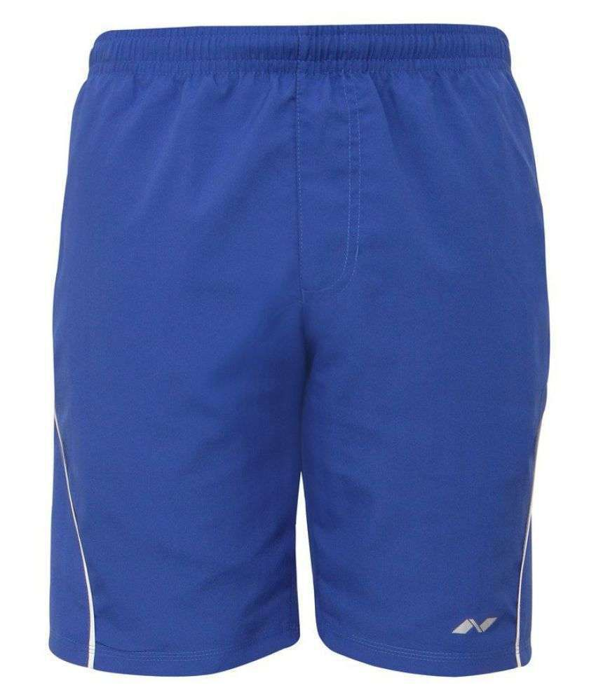 Nivia Blue Polyester Running Shorts Single-2036l1