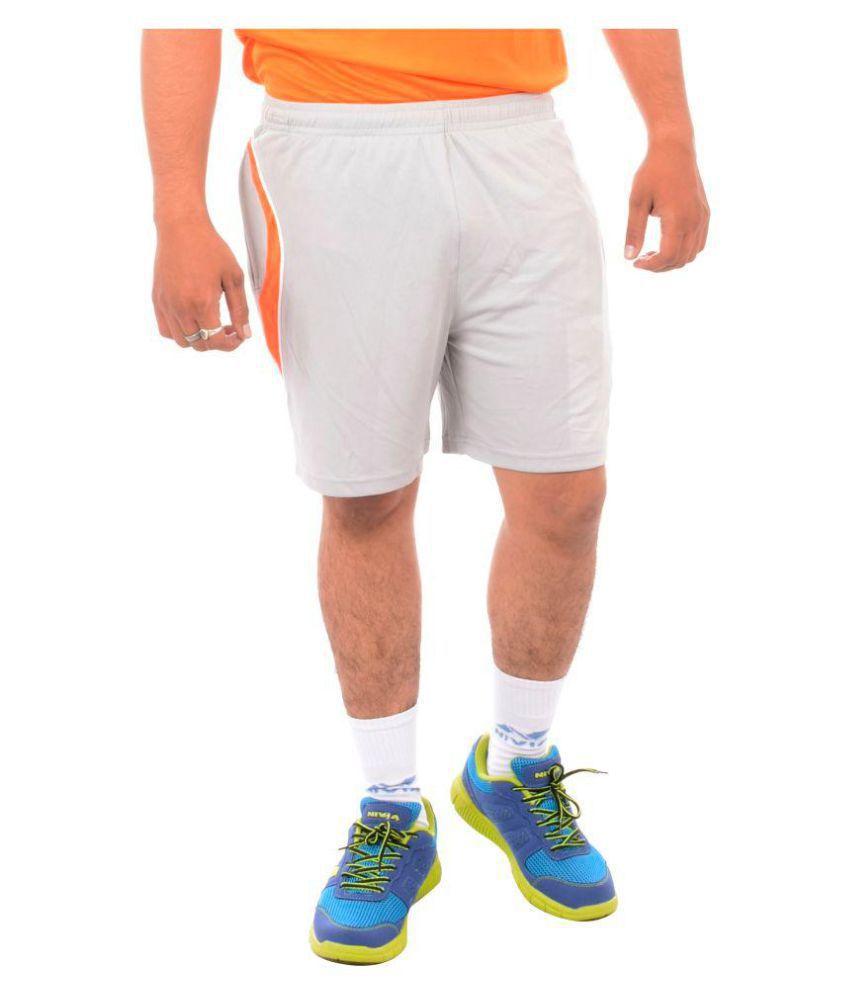 Nivia Grey Polyester Fitness Shorts-2307S3