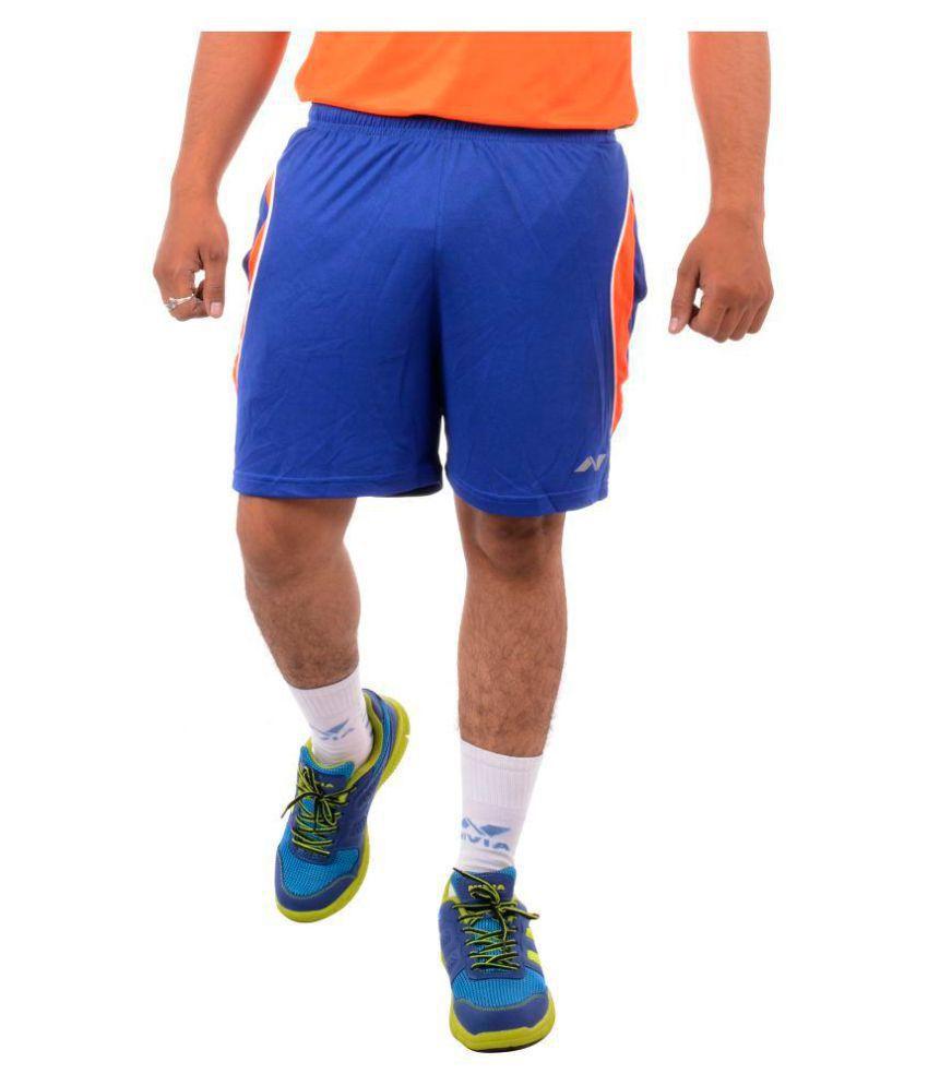Nivia Blue Polyester Fitness Shorts-2307S1