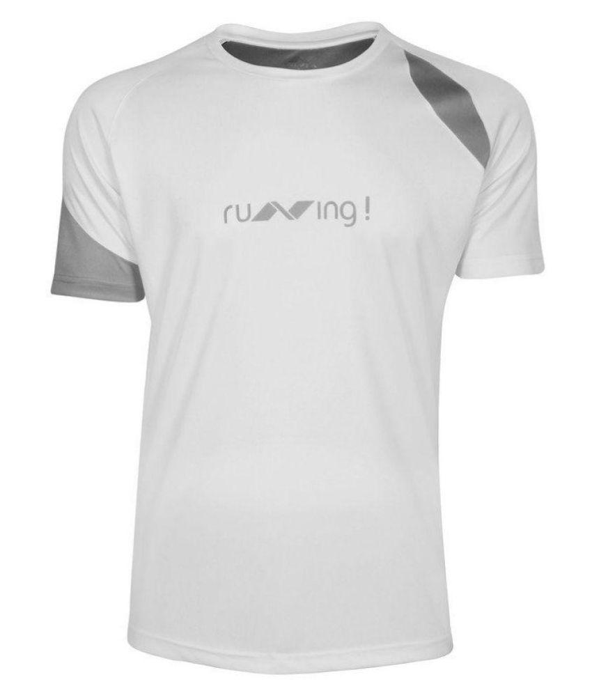 Nivia White T Shirt-n1859l3