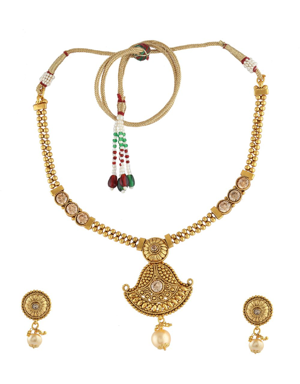 9a17993840 Anuradha Art Gold Tone Very Classy Designer Styled With Stones Traditional Necklace  Set for Women/Girls - Buy Anuradha Art Gold Tone Very Classy Designer ...