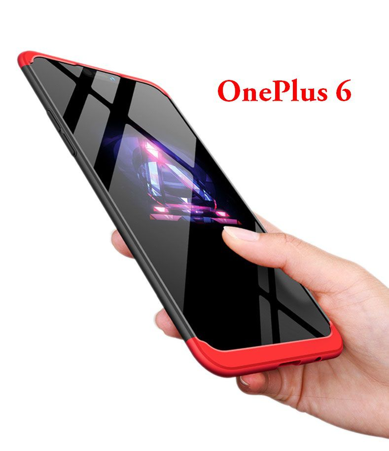 competitive price 7617b 00c99 OnePlus 6 Hybrid Covers JMA - Red Original Gkk 360° Protection Slim Case