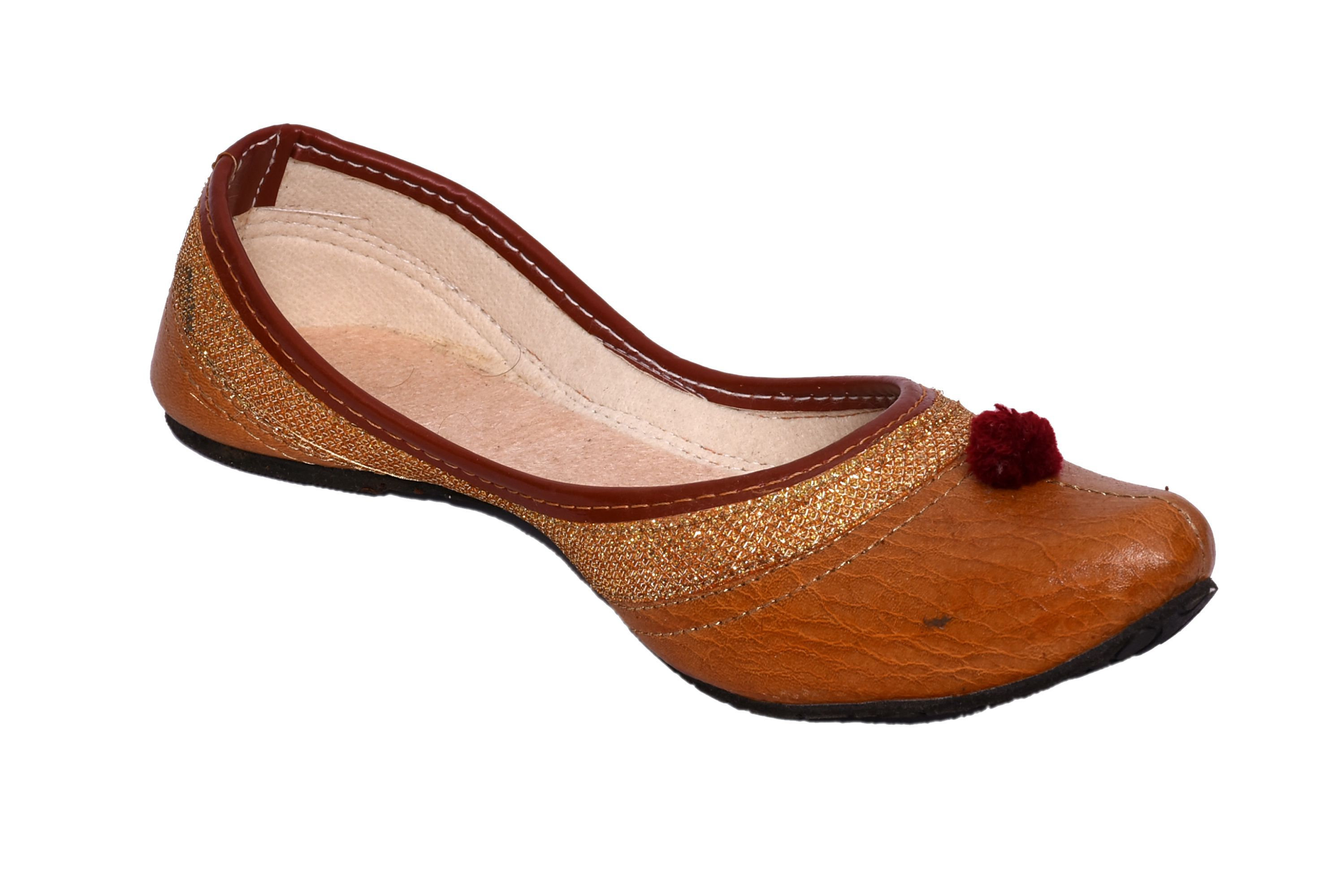 PM TRADERS AND RETAILERS Brown Ethnic Footwear