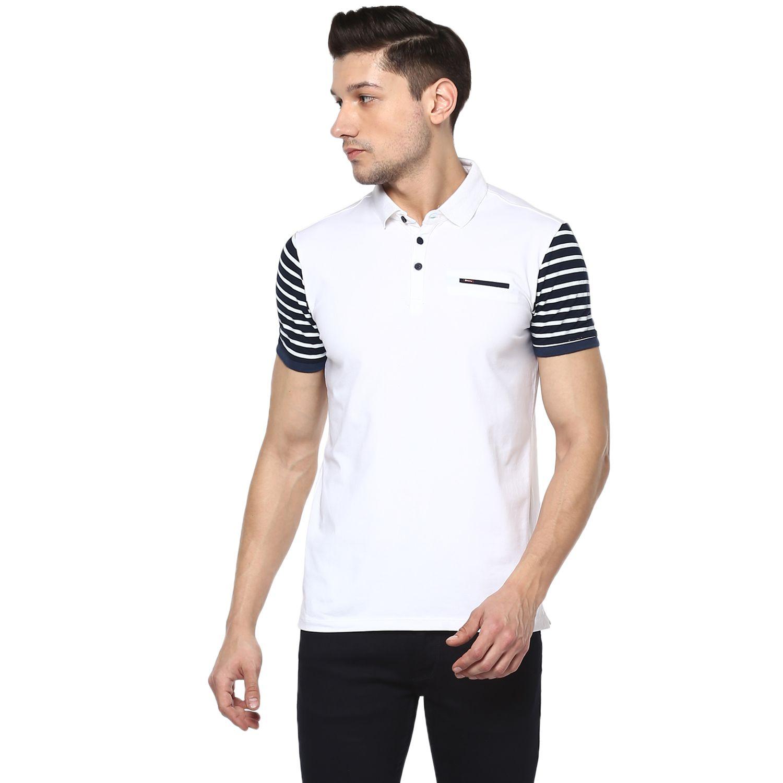 Spykar White Slim Fit Polo T Shirt - Buy Spykar White Slim Fit Polo T Shirt  Online at Low Price - Snapdeal.com 16dd8ecdb67d
