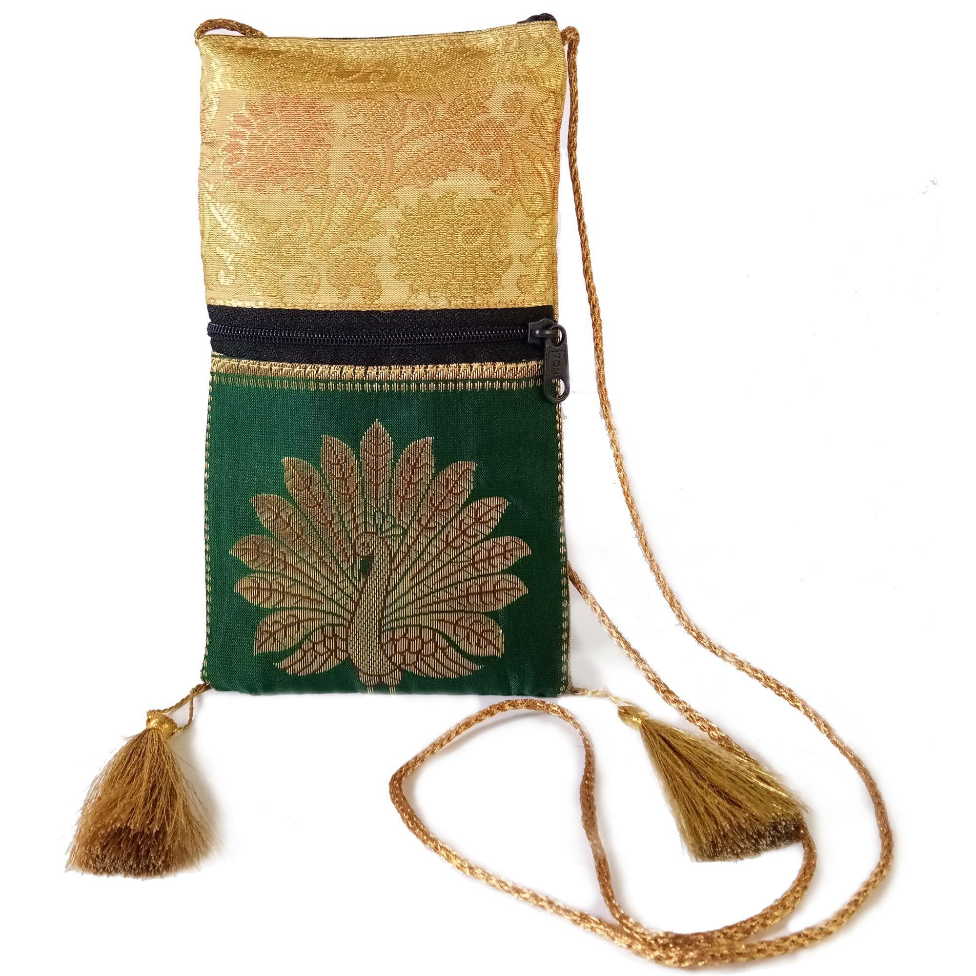 ThirtySeven Green Fabric Sling Bag