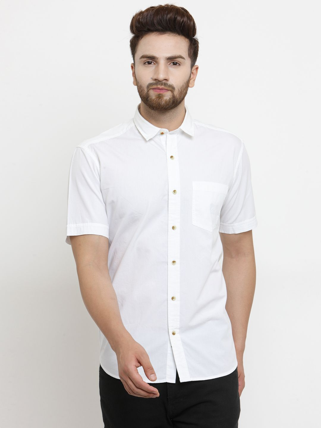 John Players White Slim Fit Shirt