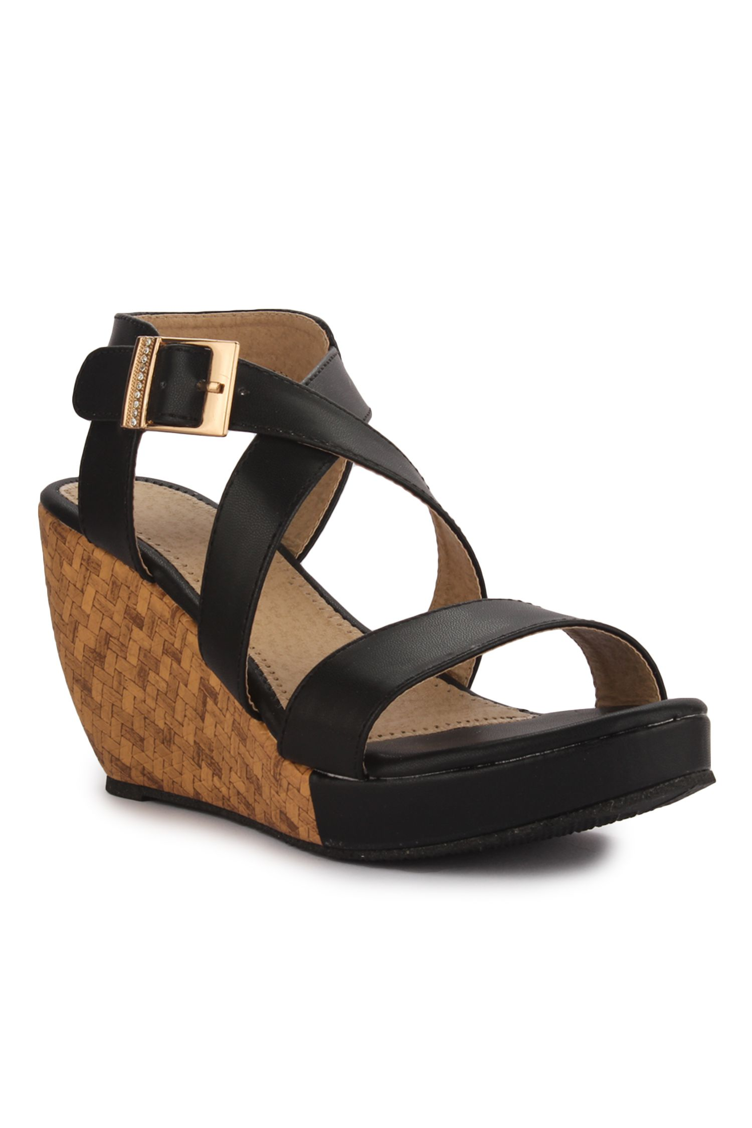 AADVIT Black Wedges Heels