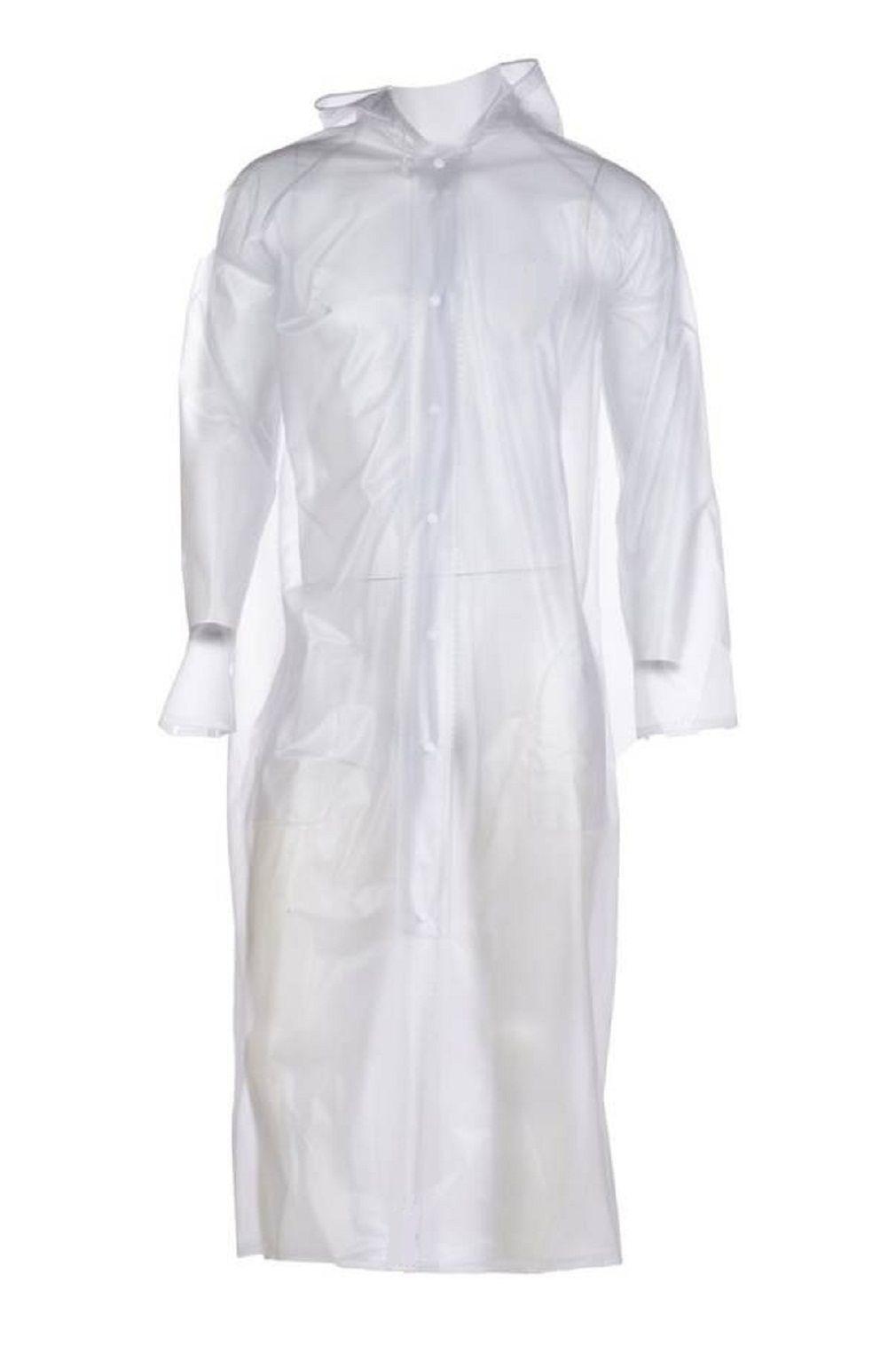 SPZ FASHION PVC Long Raincoat - White