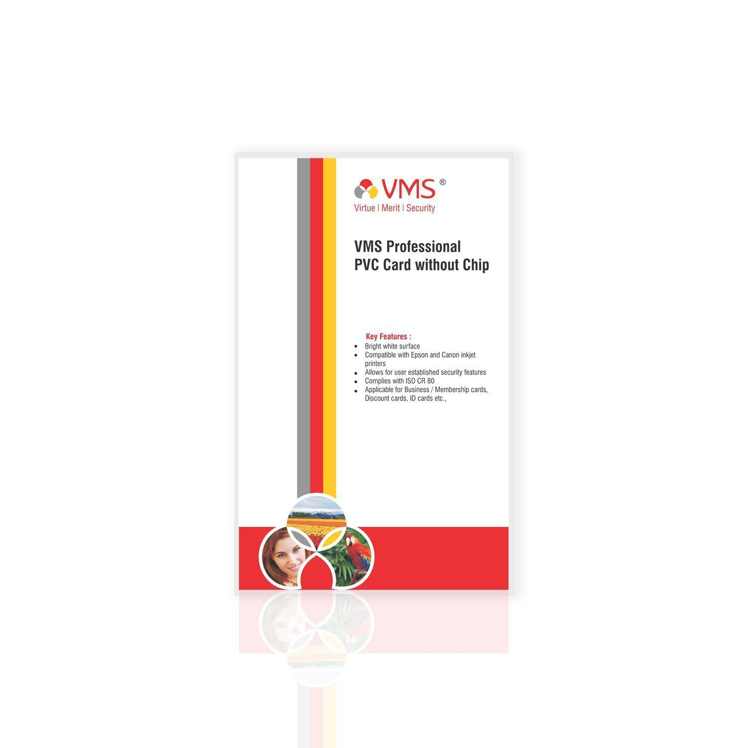 vms professional pvc card without chip for inkjet printers contact rh snapdeal com