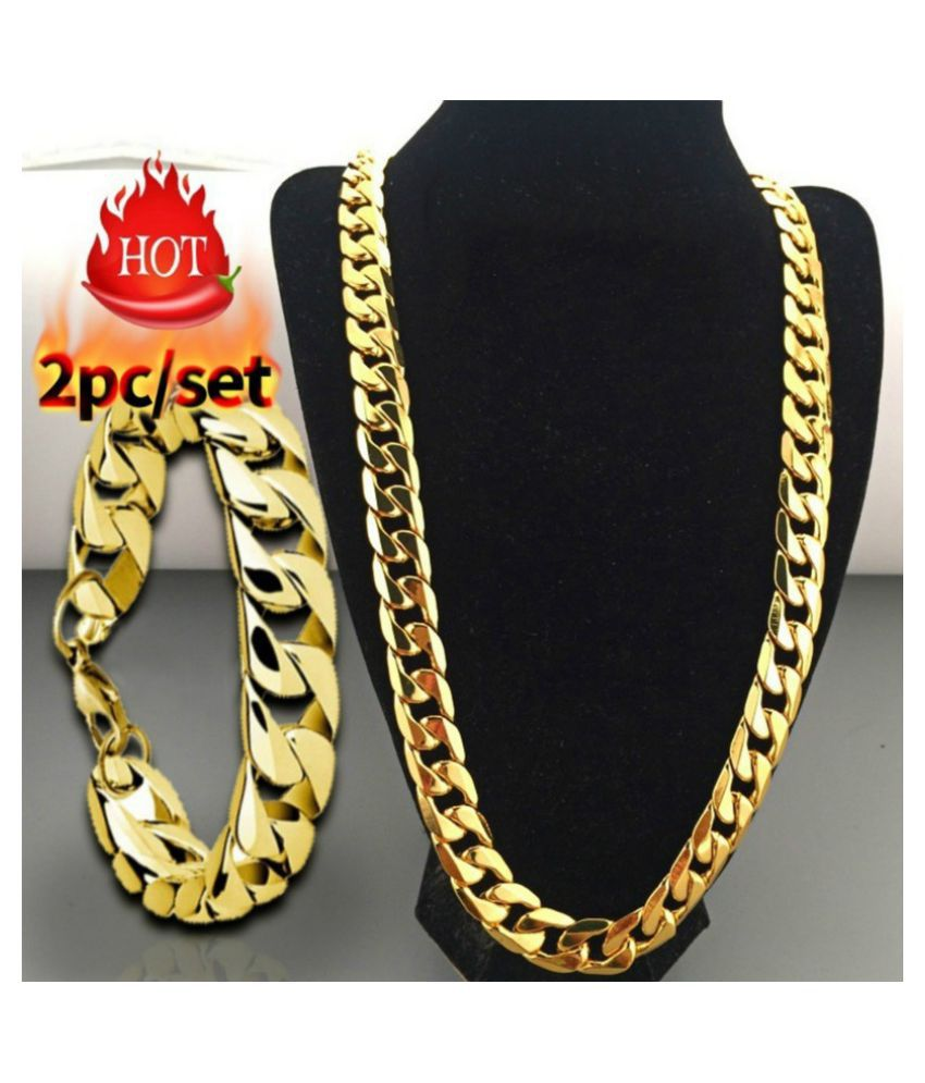 Fashion Luxury Exaggerated Men Women  Gold Necklace Exquisite Necklace Bracelets