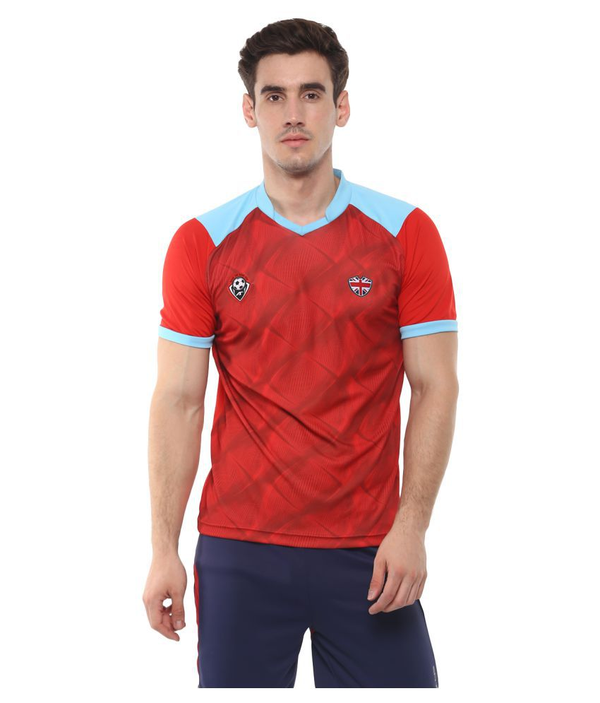 Alcis England Red Football Sports Jersey