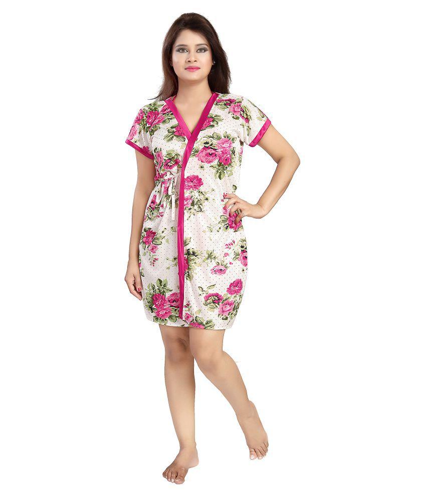 151670790 Buy Glam World Satin Night Dress - Purple Online at Best Prices in ...