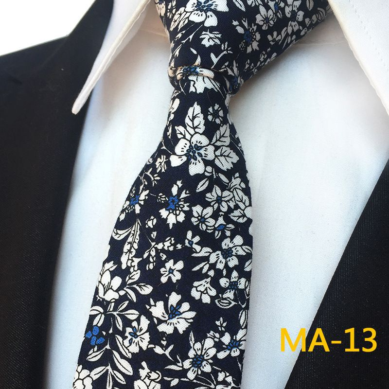 Duomu Multi Floral Polyester Necktie