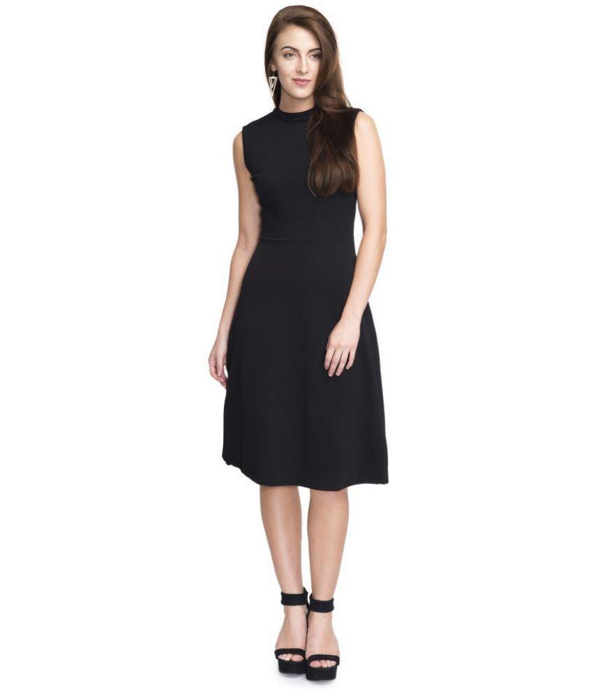 77b14f048b Addyvero Cotton Black Dresses - Buy Addyvero Cotton Black Dresses Online at  Best Prices in India on Snapdeal