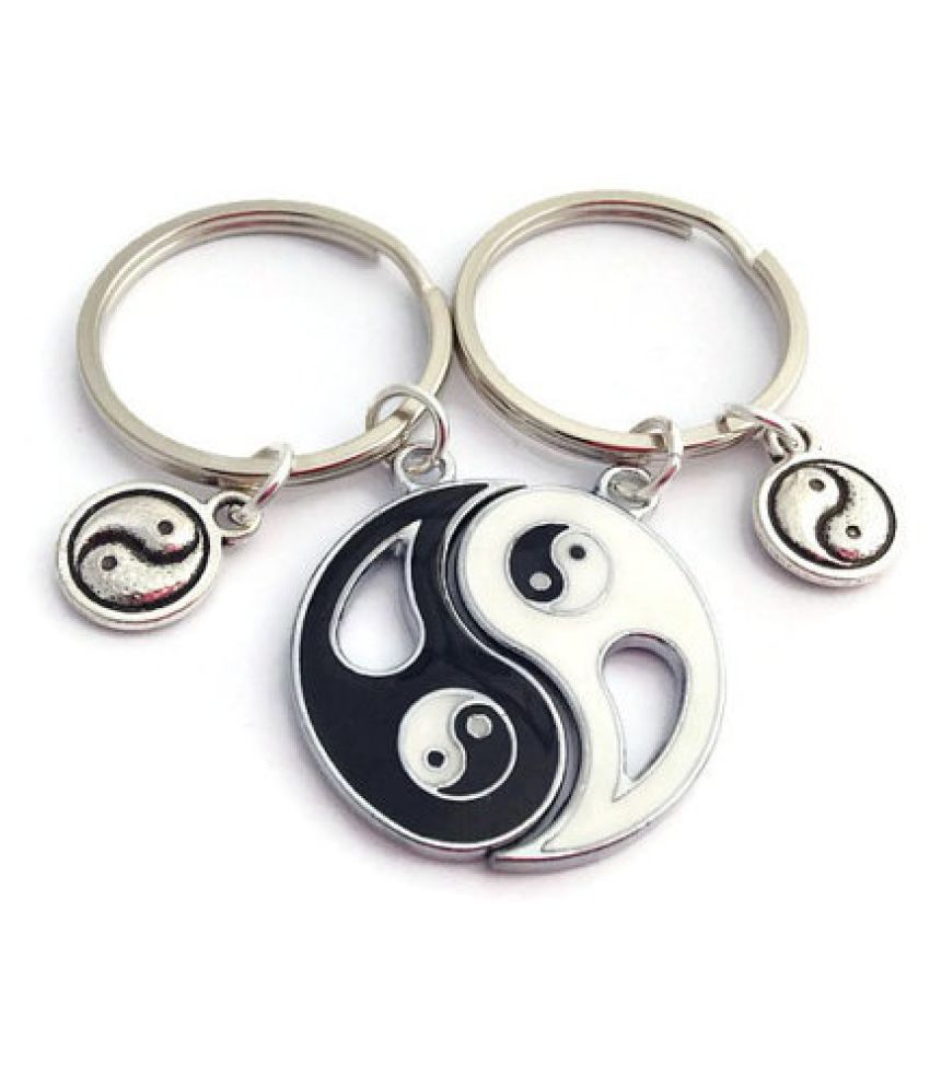 Yin Yang Keychains, BFF Keyrings, 2 Best Friends, Matching Set, Long Distance Boyfriend, Gift for Sibling, Gift For Him, Christmas Gifts