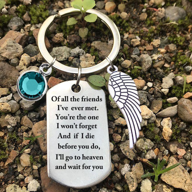 stainless steel keychain Best friend keychain   Best friend gift   Personalized Gift   Gift for Women   Going Away Gift   Graduation Gift