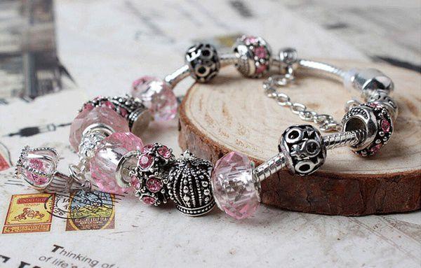 Vintage Crown Charms Beads Bracelets Bracelet Chic Crystal Beads Fashion Bangles dreamshopforever