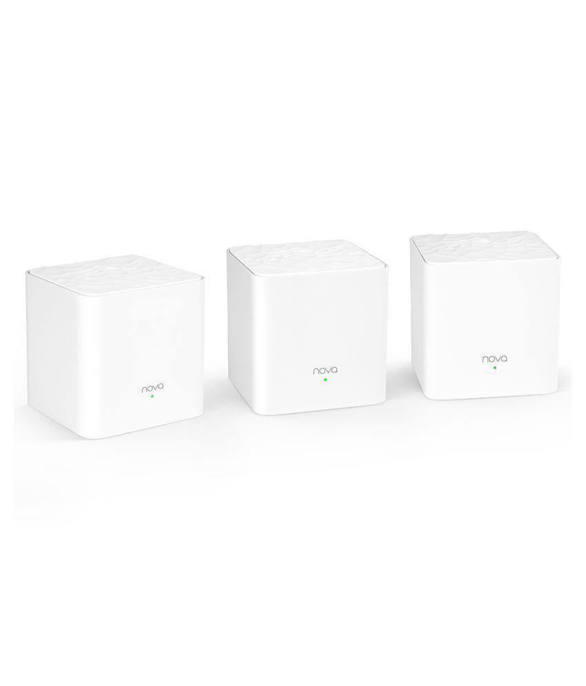 Tenda Nova MW3 (3 PACK) Mesh WiFi Router 1200 RJ45 White