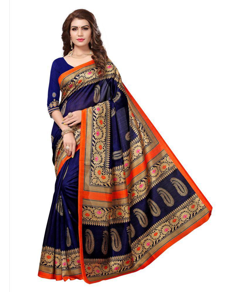 Manvaa Multicoloured Art Silk Saree