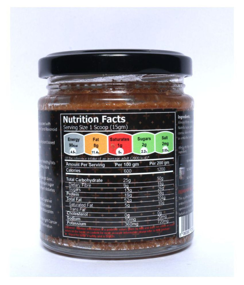 FITJARS DELICIEUX ALMOND NUTELLA Butter Chunky 190 gm: Buy FITJARS