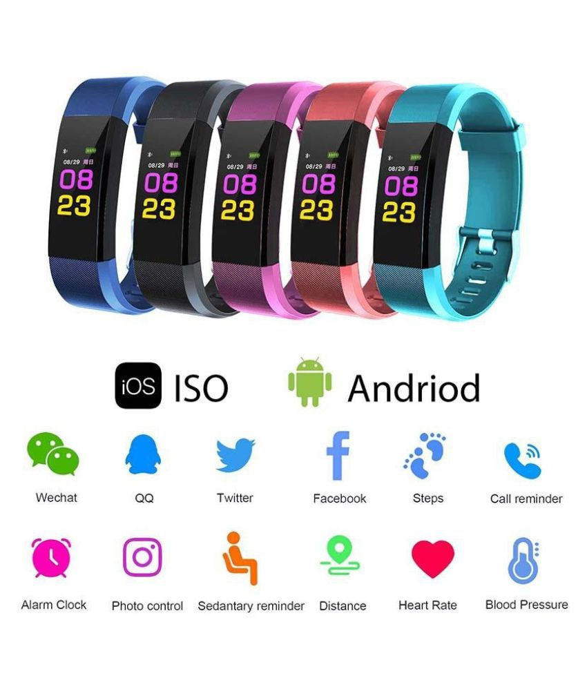 ZXG Smart Bracelet,Fitness Tracker with Heart Rat Wearable Smart Devices