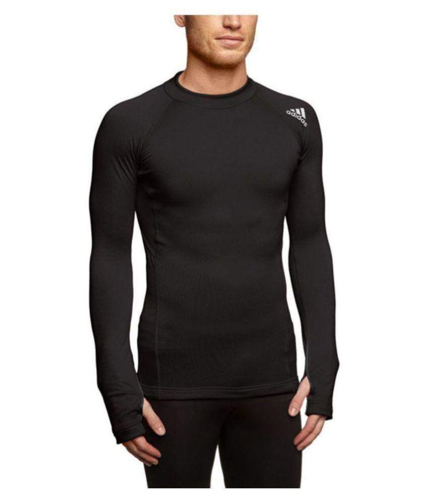 Adidas Black Cotton Blend T-Shirt
