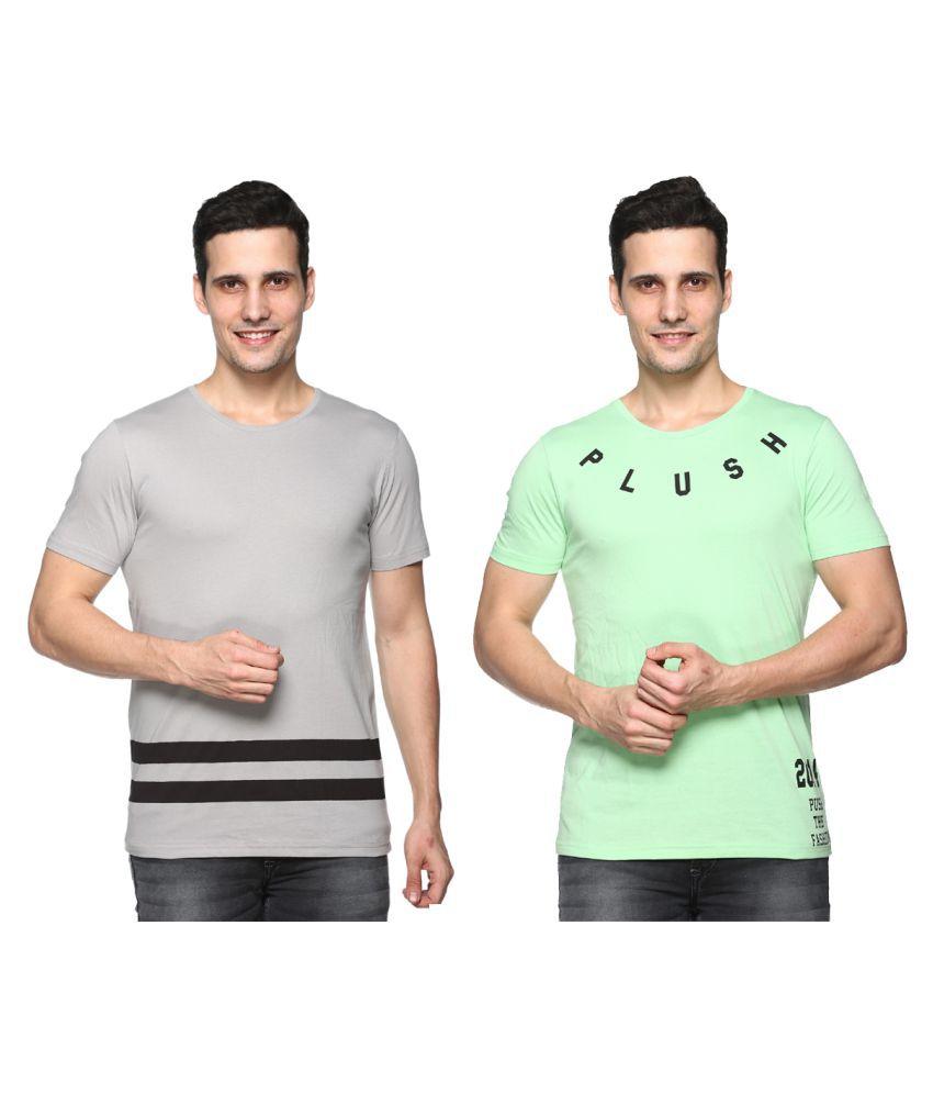 Plush Multi Round T-Shirt Pack of 2