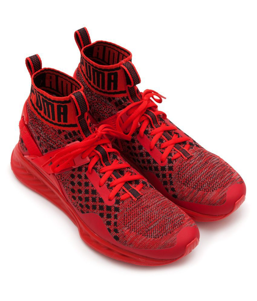 check out 94340 879a2 Puma Ignite Evoknit Red Running Shoes