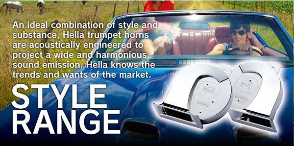 Hella Chrome Twin Tone Horn- Set of 2 for Car & Bike
