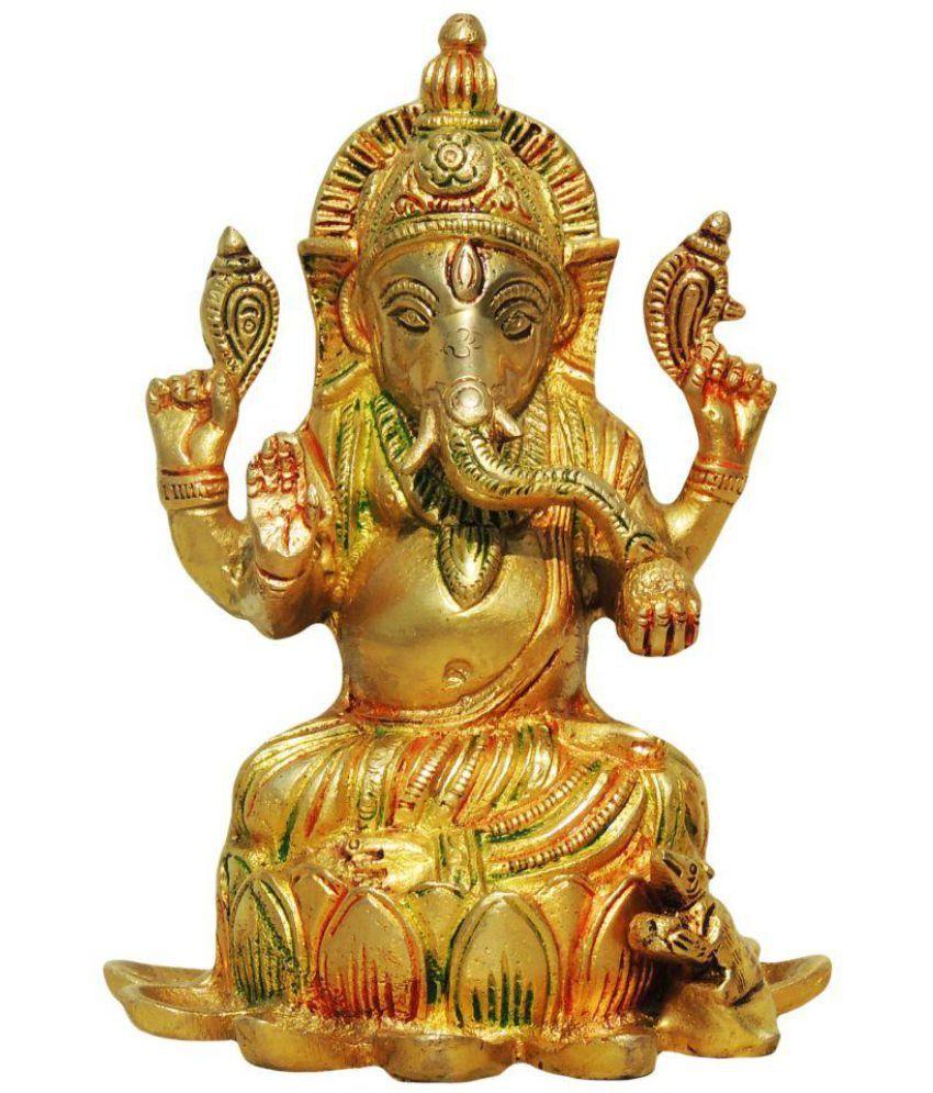 Brass Gift Center Ganesha Brass Idol