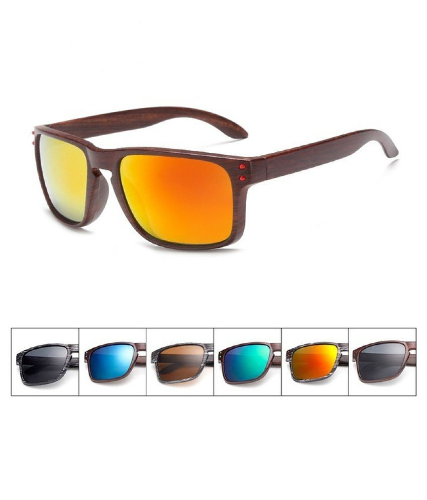 ZXG Multicolor Aviator Sunglasses ( Fashionable Wood Sunglasses Men Reflective Sp )