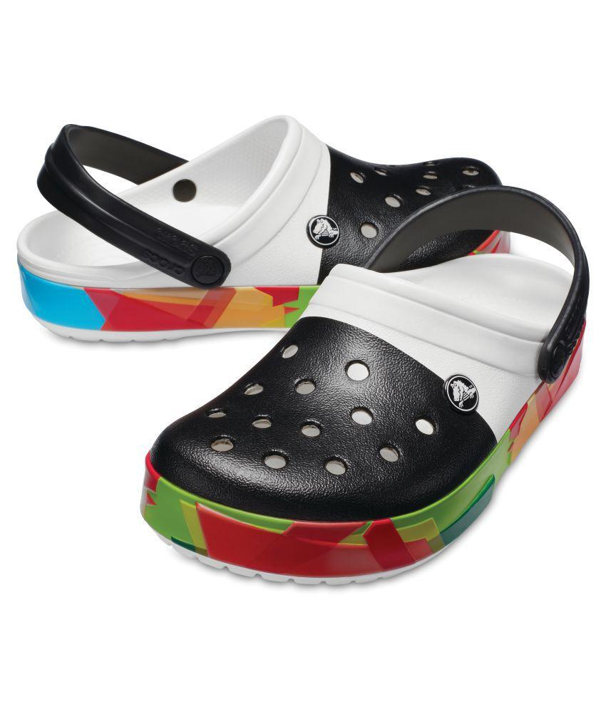 878bd28921b Crocs Men Crocband Prismatic Clogs White Sandals Crocs Men Crocband  Prismatic Clogs White Sandals ...