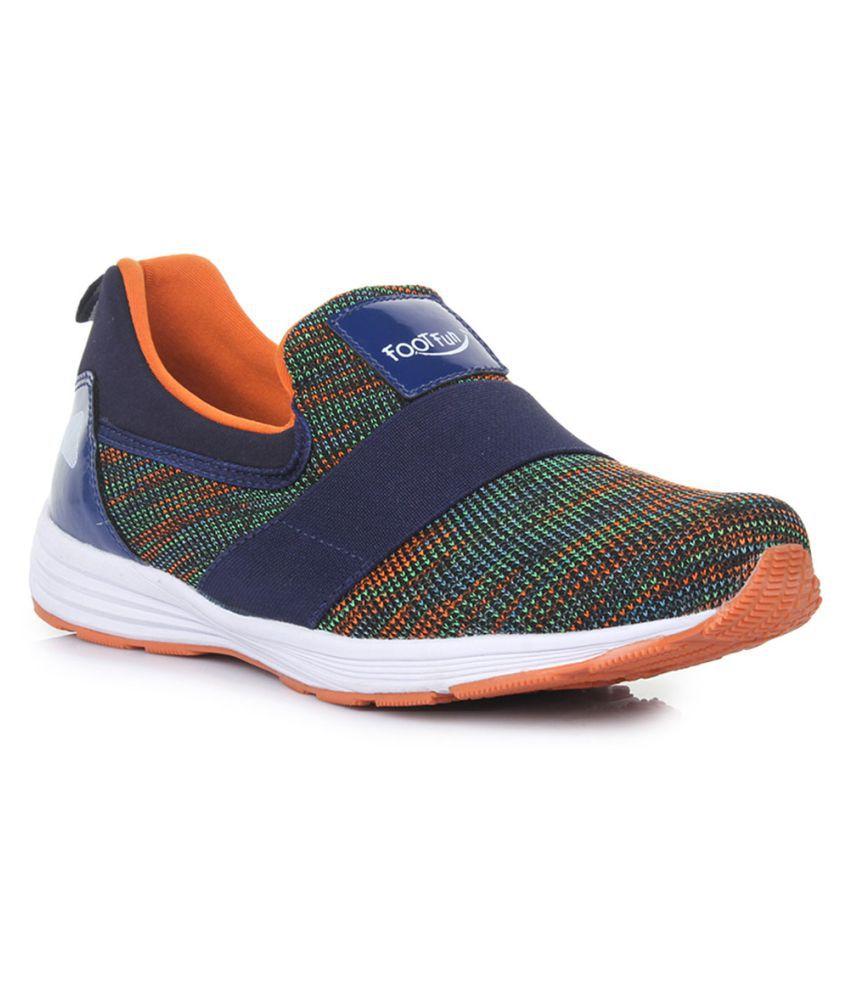 Footfun By Liberty Girls Orange Sports Shoes