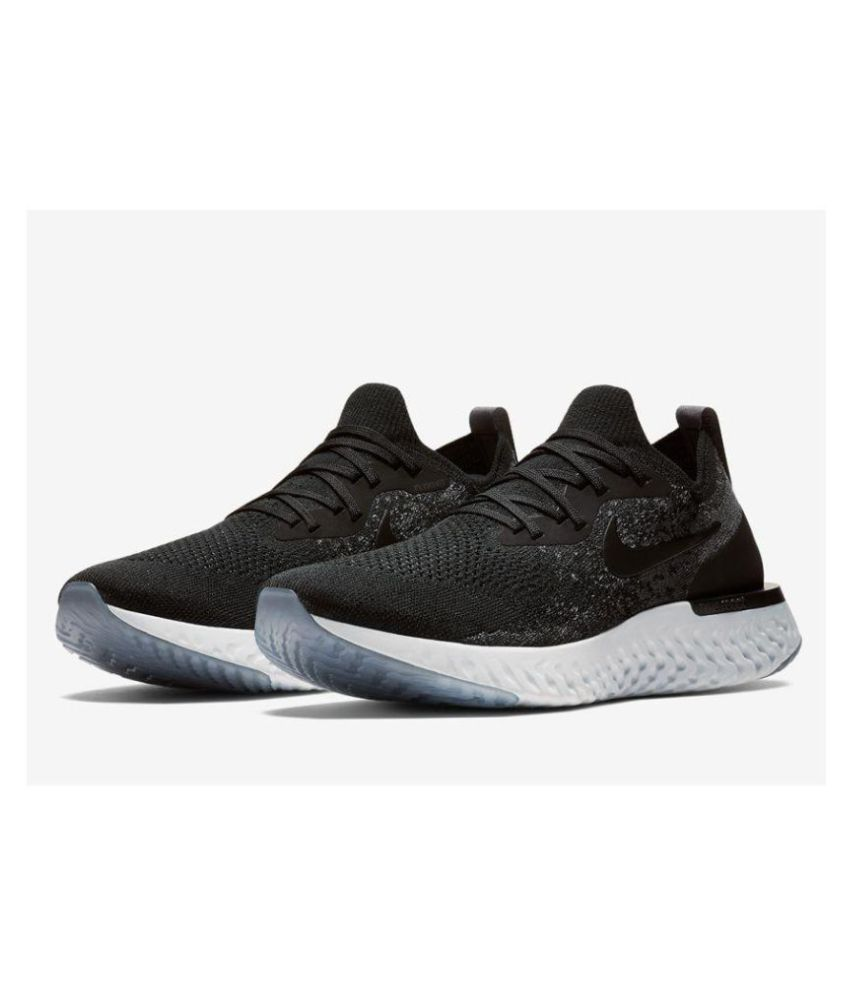 new products 090e9 c0082 Nike EPIC REACT FLYKNIT Black Running Shoes - Buy Nike EPIC REACT FLYKNIT  Black Running Shoes Online at Best Prices in India on Snapdeal