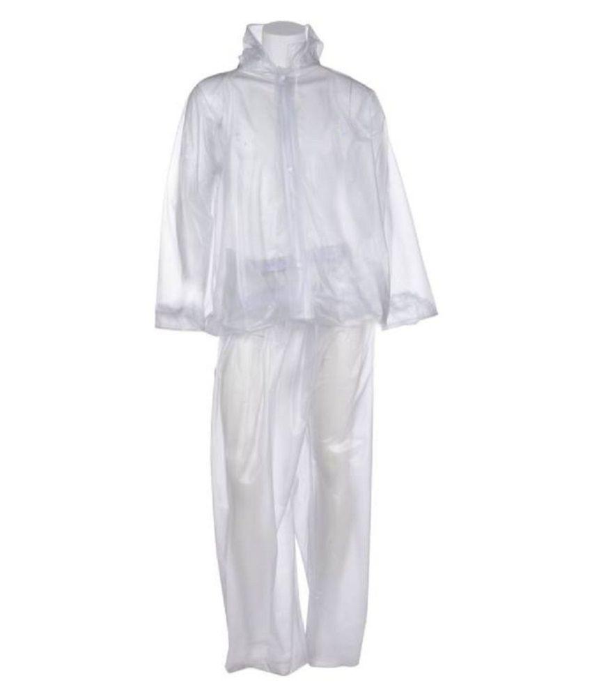 ZAINEE CLOTHING PVC Raincoat Set - White