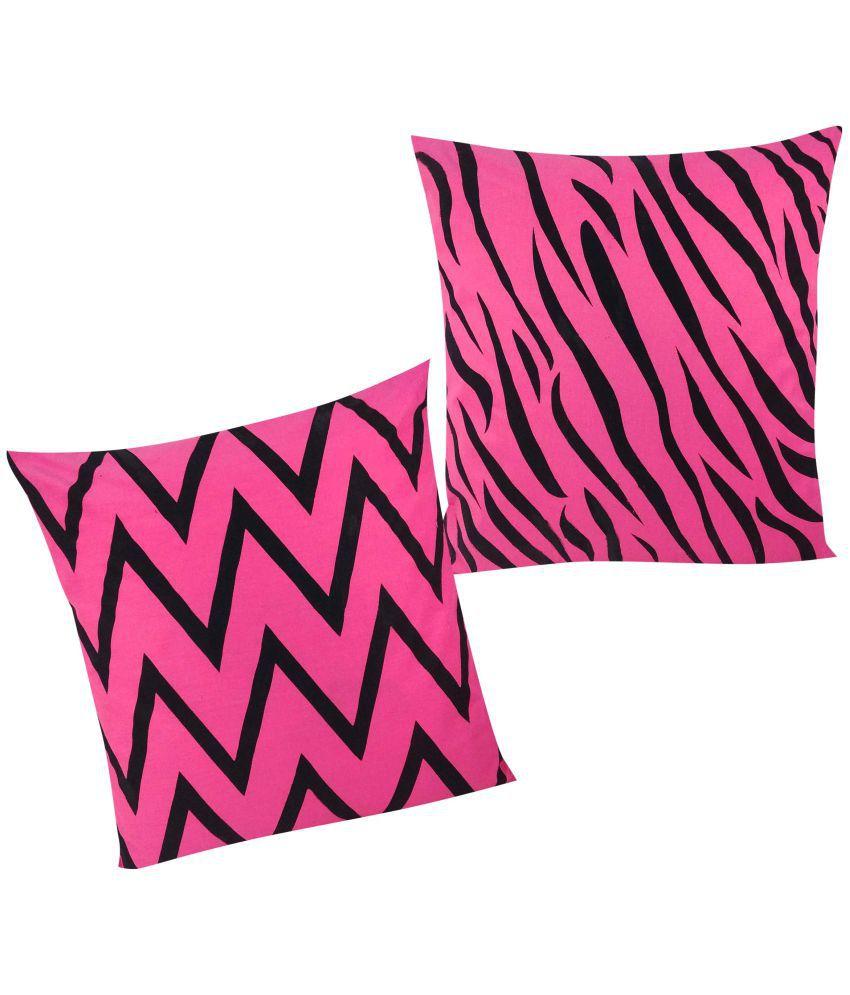 vishal store Set of 2 Cotton Cushion Covers 40X40 cm (16X16)