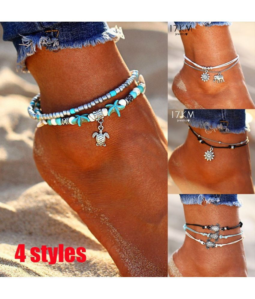 Turtle Anklet Anklets Hot Beads Multi Starfish 2018 Women Layer For DIHeWE92Y