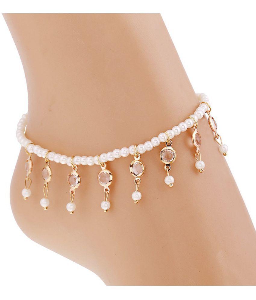 Elegant Bohemian Sandals Enkelbandje Imitation Pearl Beads Foot Jewelry Beach Ankle Bracelet Anklets Jewelry for Women